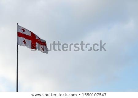 Bandera Georgia viento blanco nublado Foto stock © boggy