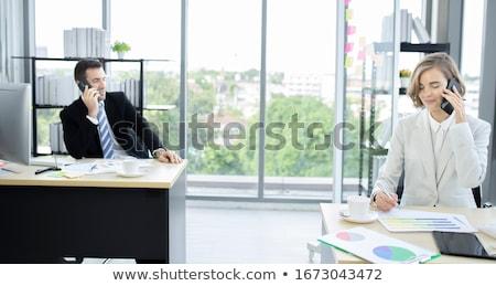 Zakenman wachten collega buiten kantoor business Stockfoto © Freedomz