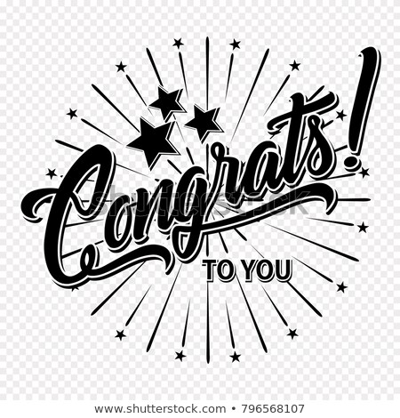Congratulations Handwritten Lettering Stock photo © Anna_leni