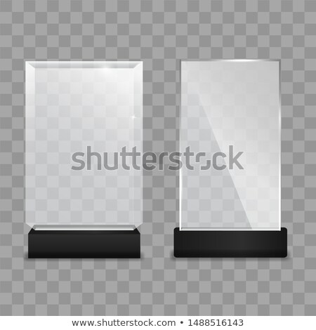 Modern Reflection Blank Glass Trophy Award Vector Stock photo © pikepicture