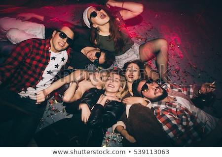 tánc · emberek · diszkó · klub · boldog · pár - stock fotó © robuart