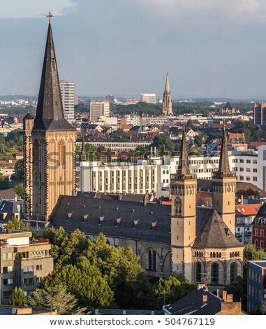 Bazilika Almanya erken kilise gökyüzü Stok fotoğraf © borisb17
