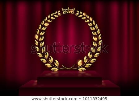 Królewski korony złoty ramki pusty banner Zdjęcia stock © robuart