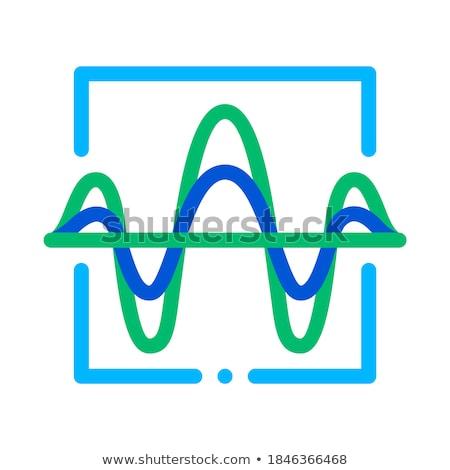 geluidsgolf · stem · controle · icon · vector - stockfoto © pikepicture
