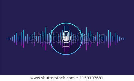Sound Microphone Voice Control Icon Vector Illustration Stock photo © pikepicture