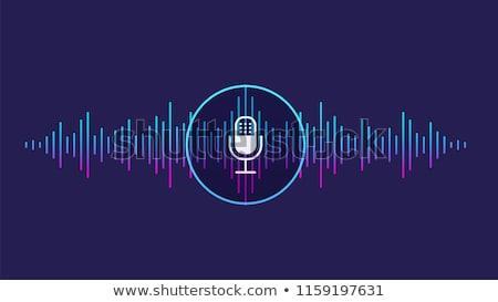 Geluid microfoon stem controle icon vector Stockfoto © pikepicture