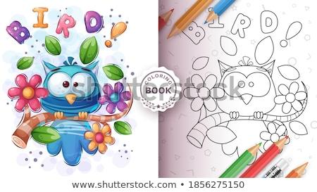Set cute animals illustration and merchandising Stock photo © rwgusev