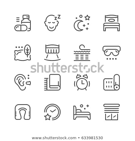 Travel Pillow For Sleep Icon Outline Illustration Stock photo © pikepicture