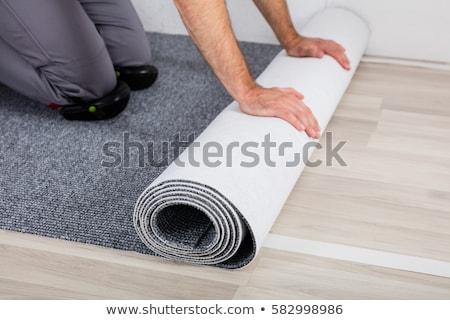 Installing New Room Carpet Floor Stock photo © AndreyPopov