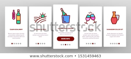 Sommelier borkóstolás elemek ikon szett vektor mobil Stock fotó © pikepicture