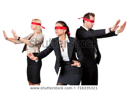 Confused Blindfold Group Of People Stock photo © AndreyPopov