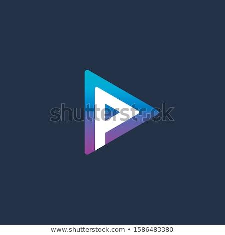 Streamelés szolgáltatás logo sablon boldog film Stock fotó © barsrsind