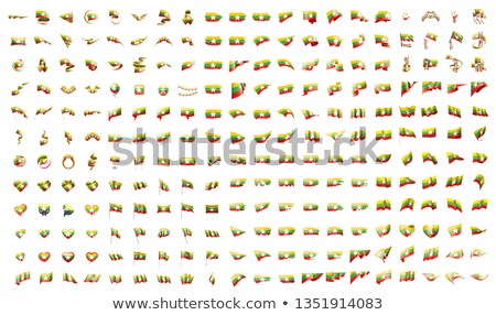 very big collection of vector flags of the Myanmar Stock photo © butenkow
