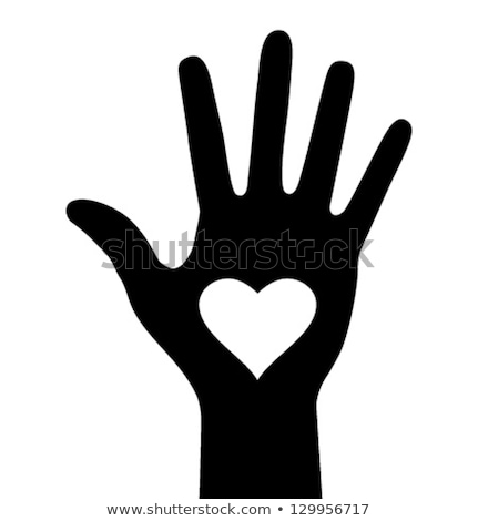 medical helping hand icon vector outline illustration Stock photo © pikepicture