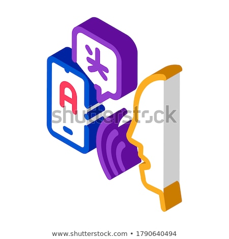 Voice Interpreter Translator isometric icon vector illustration Stock photo © pikepicture