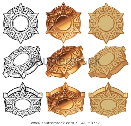 ancient gold medallion solar stock photo © tottoro
