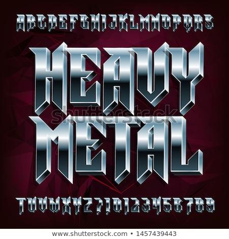 Heavy metal música símbolo 3D prestados ilustração Foto stock © Spectral