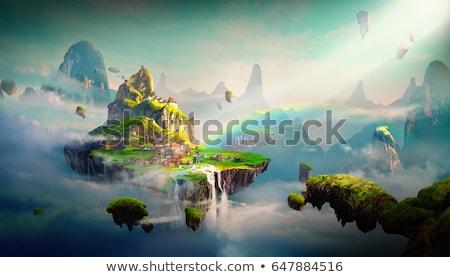 fantázia · világ · jelenet · magas · döntés · 3d · render - stock fotó © DuToVision