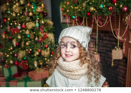 Chrismas girl Stock photo © elenaphoto