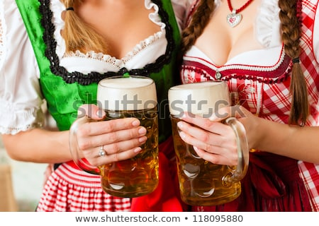 two bavarian women with beer stock photo © rob_stark