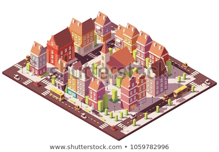 Town In Isometric Stock fotó © tele52