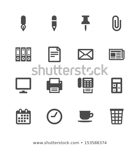 vector thumbtack icon stock photo © tele52