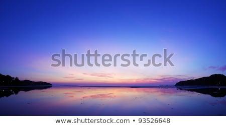 spectacular sunrise scene at the east coast of phuket island th stock photo © moses