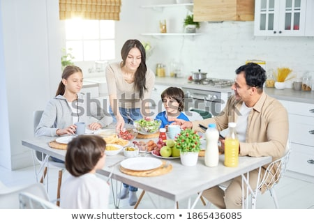 Woman sharing her food with her husband stock photo © photography33