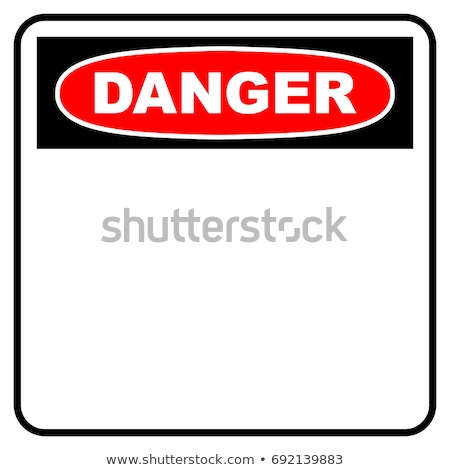 Red vector danger signs stock photo © olira