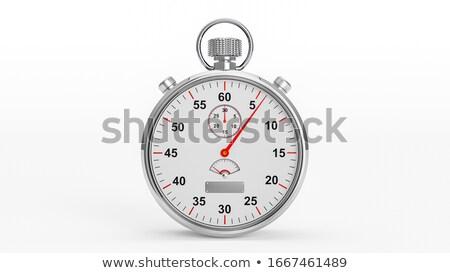 vector · chroom · stopwatch · ingesteld · analoog · eps8 - stockfoto © gladiolus