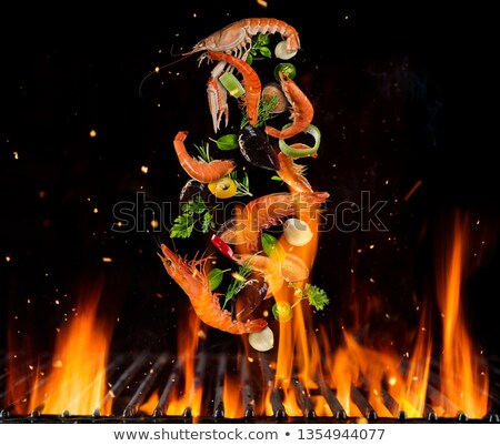 grilled shrimp and vegetables stock photo © m-studio