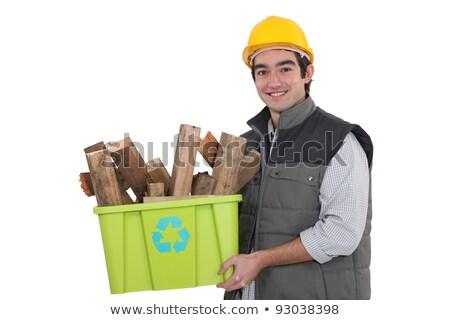 Rzemieślnik polu recyklingu materiały drewna Zdjęcia stock © photography33