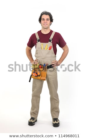 Carpenter stood by his tools Stock photo © photography33