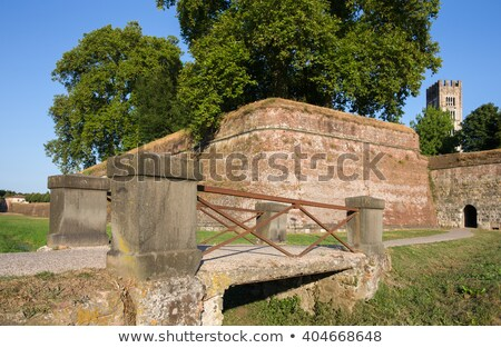 Historic town wall in Lucca, Tuscany, Italy Stock photo © fisfra