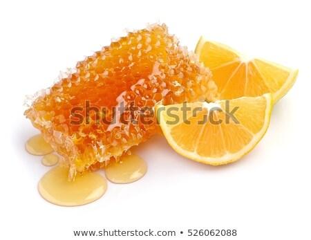 A nido d'ape limone bianco texture alimentare Foto d'archivio © Masha