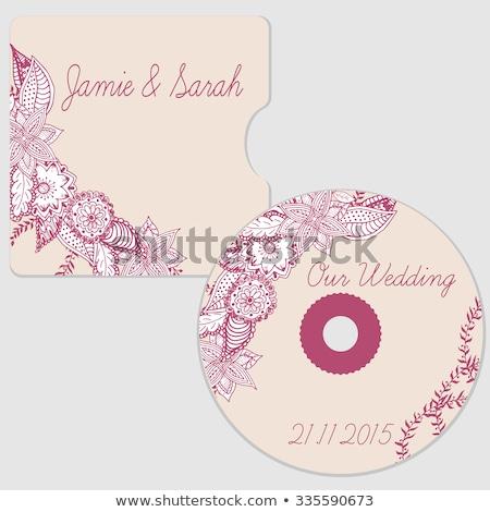 forme · de · coeur · texte · boîte · cadre · saint · valentin · papier - photo stock © pathakdesigner