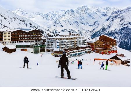 skiing resort in Austria Stock photo © macsim