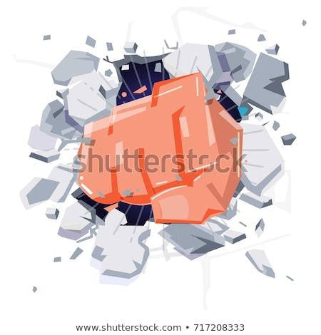 ököl fal erő mérges veszély erős Stock fotó © photography33
