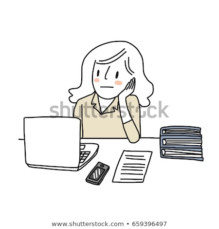 bored businesswoman looking at her laptop stock photo © photography33