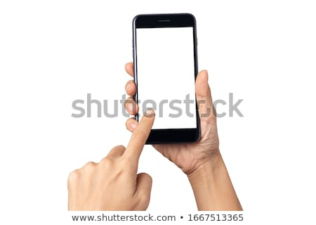 Woman with touch phone Stock photo © photography33