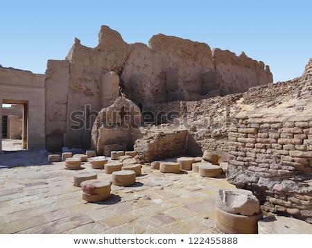 遺跡 建築ディテール 考古学的な サイト オアシス エジプト ストックフォト © prill