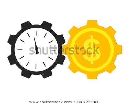 Czas to pieniądz ceny ikona złoty klepsydry Zdjęcia stock © gladiolus