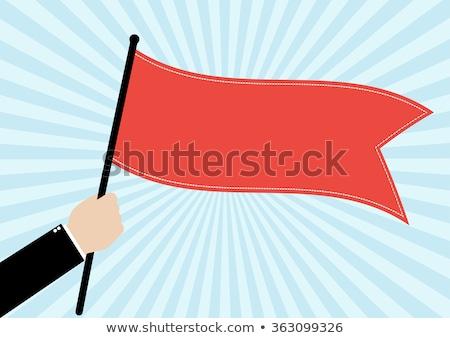 checkered red flag Stock photo © nicemonkey