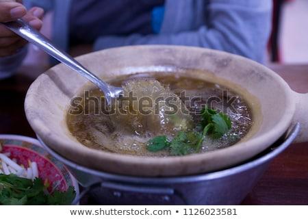 Balıkçı çorba çanak balık deniz ürünleri Stok fotoğraf © photosoup