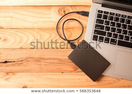 Laptop izolált fehér számítógép notebook szoftver Stock fotó © grasycho