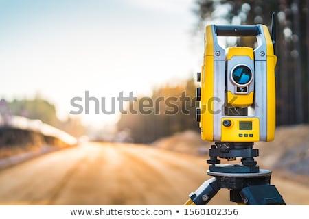 állomás digitális hangszer precíz távolság mérés Stock fotó © oorka
