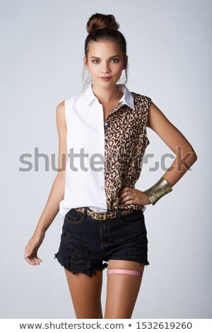 liga · cinturón · sexy · blanco · negro · blanco · belleza - foto stock © dolgachov
