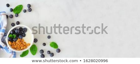 Yaban mersini beyaz meyve içmek sağlıklı doğal Stok fotoğraf © wavebreak_media