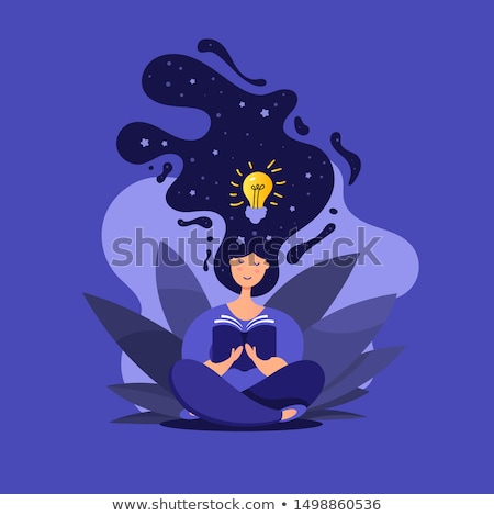 A businesswoman in a lotus position. Stock photo © photography33