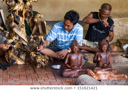 buda · estátua · tiro · estúdio · paz - foto stock © bbbar